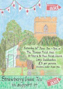 Christian Aid Strawberry Cream Tea @ Thomas Field Hall