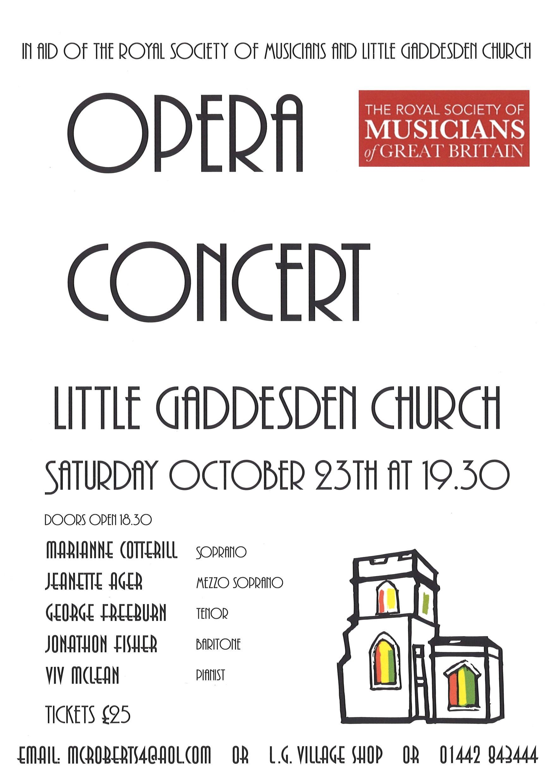 Charity Opera Concert @ Little Gaddesden Church